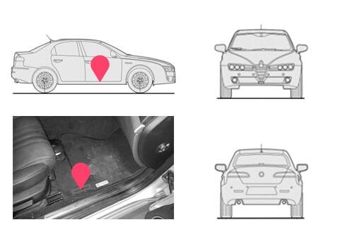 Ubicacion bastidor Alfa Romeo 159