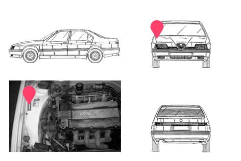 Ubicacion bastidor Alfa Romeo 164