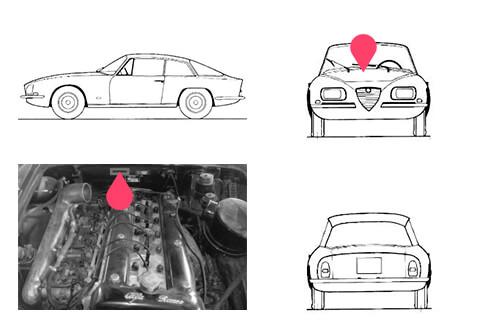 Ubicacion bastidor Alfa Romeo 2600