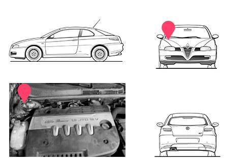 Ubicacion bastidor Alfa Romeo GT