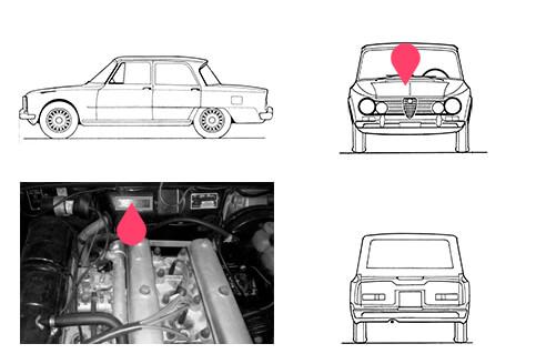 Ubicacion bastidor Alfa Romeo Giulia 68