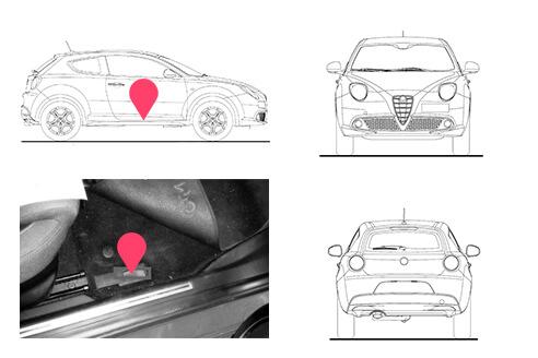 Ubicacion bastidor Alfa Romeo Mito
