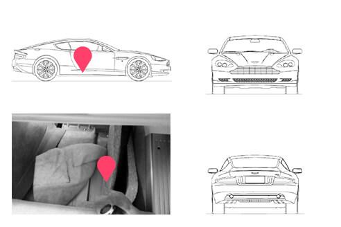 Ubicacion bastidor Aston Martin DB9