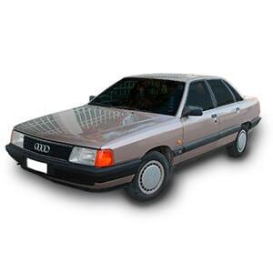 Audi 100 fondo blanco