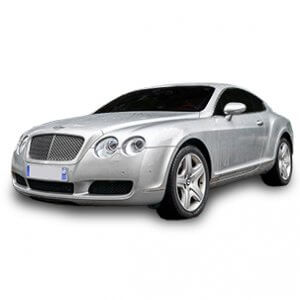 Bentley Continental GT fondo blanco
