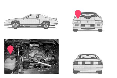 Ubicacion bastidor Chevrolet Camaro 3generacion