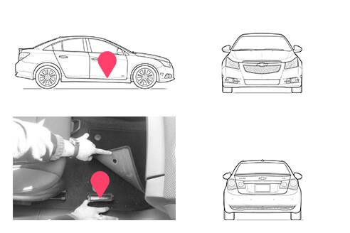 Ubicacion bastidor Chevrolet Cruze
