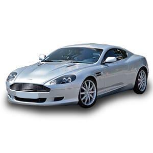 Aston Martin DB9 fondo blanco