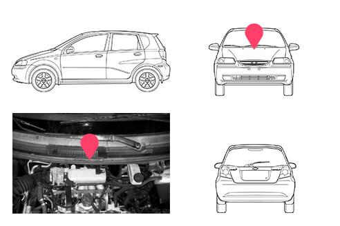 Ubicacion bastidor Chevrolet Kalos