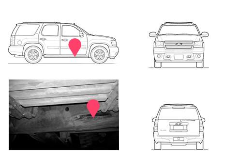 Ubicacion bastidor Chevrolet Tahoe