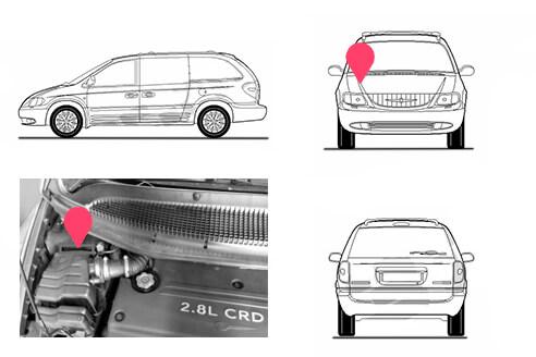 Ubicacion bastidor Chrysler Grand Voyager 1 generacion