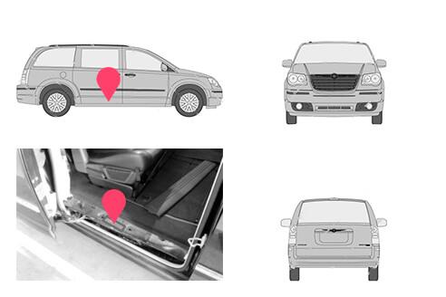 Ubicacion bastidor Chrysler Grand Voyager 2 generacion