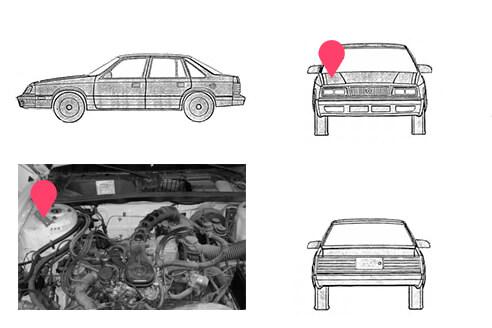 Ubicacion bastidor Chrysler Lebaron