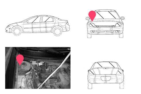 Ubicacion bastidor Chrysler Neon 1 generacion
