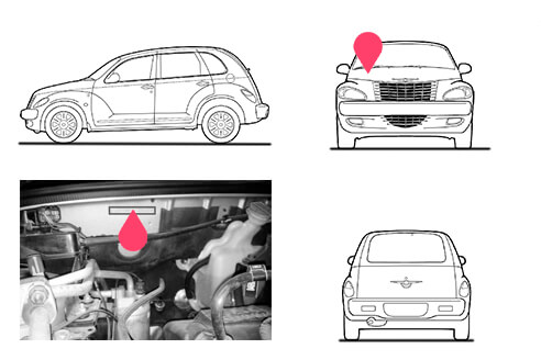 Ubicacion bastidor Chrysler Pt Cruiser 1 generacion