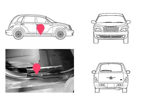 Ubicacion bastidor Chrysler Pt Cruiser 2 generacion