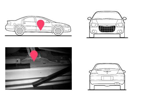 Ubicacion bastidor Chrysler Sebring generaciones