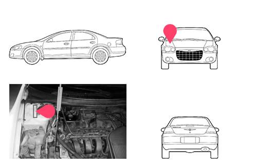 Ubicacion bastidor Chrysler Stratus