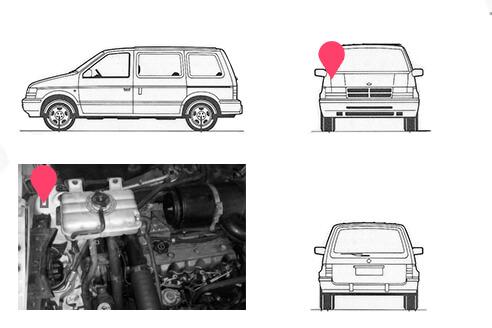 Ubicacion bastidor Chrysler Voyager 2 generacion