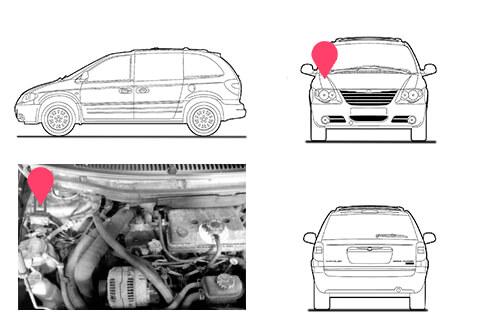 Ubicacion bastidor Chrysler Voyager 3 generacion