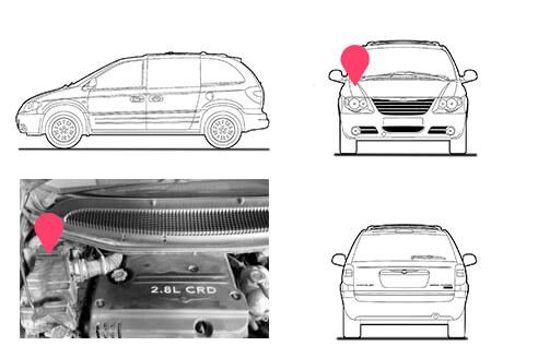 Ubicacion bastidor Chrysler Voyager 4 generacion