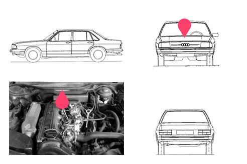 Ubicacion bastidor Audi 100
