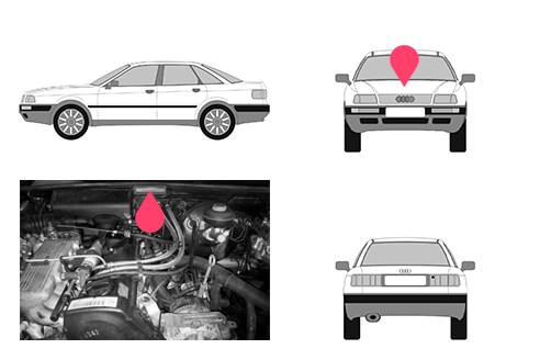 Ubicacion bastidor Audi 80
