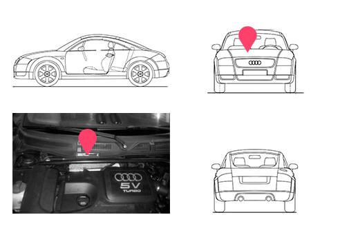 Ubicacion bastidor Audi TT primera generacion