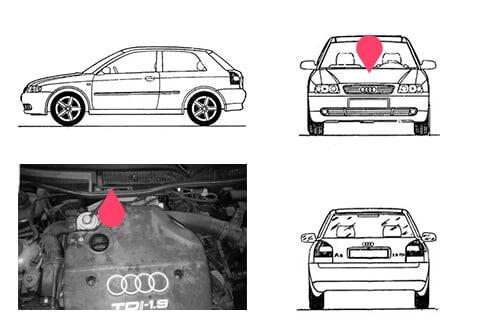 Ubicacion bastidor Audi A3 primera generacion