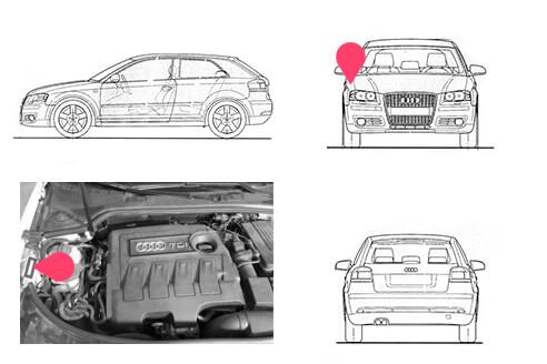 Ubicacion bastidor Audi A3 segunda generacion