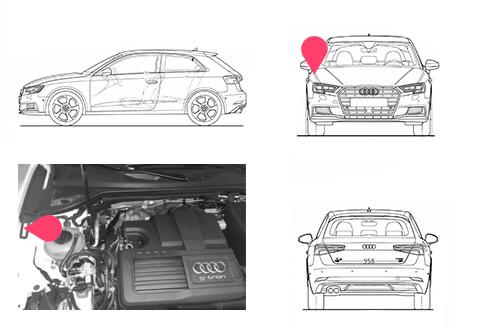 Ubicacion bastidor Audi A3 tercera generacion