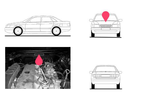 Ubicacion bastidor Audi A6 primera generacion