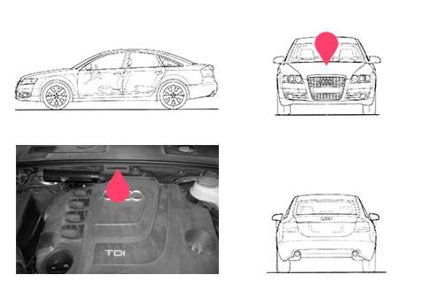 Ubicacion bastidor Audi A6 tercera generacion