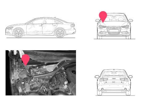 Ubicacion bastidor Audi A6 cuarta generacion