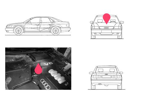 Ubicacion bastidor Audi A8 primera generacion