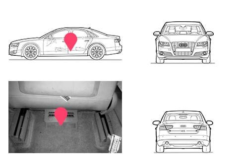 Ubicacion bastidor Audi A8 segunda generacion