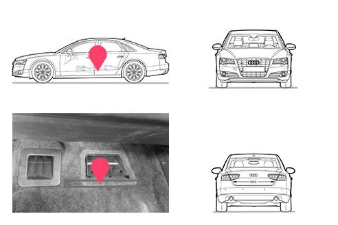Ubicacion bastidor Audi A8 tercera generacion