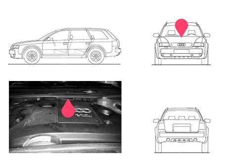 Ubicacion bastidor Audi Allroad primera generacion