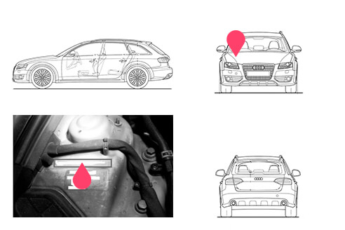 Ubicacion bastidor Audi Allroad segunda generacion