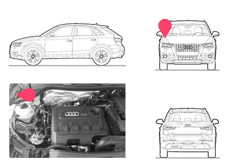 Ubicacion bastidor Audi Q3