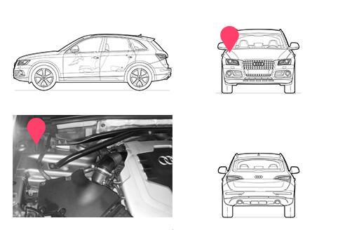 Ubicacion bastidor Audi Q5