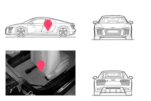 Ubicacion bastidor Audi R8