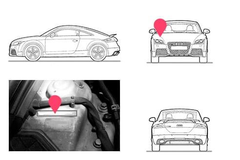 Ubicacion bastidor Audi TT segunda generacion