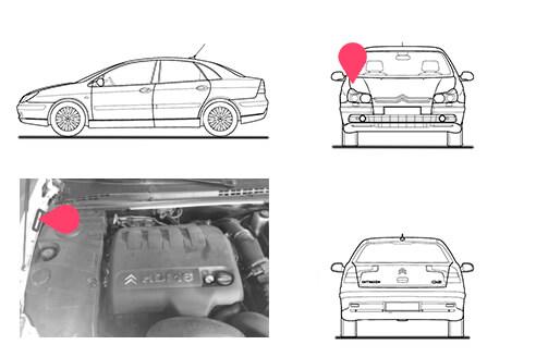 Ubicacion bastidor Citroen c5 primera generacion