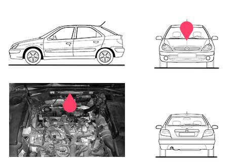 Ubicacion bastidor Citroen xsara segunda generacion