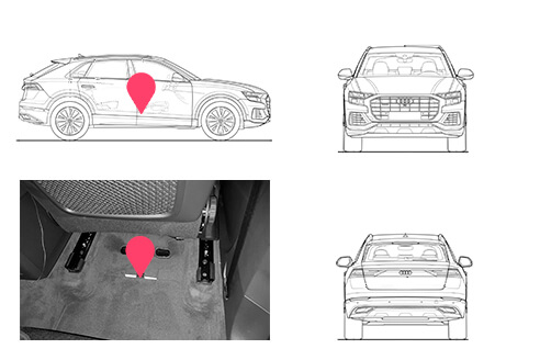 Ubicacion bastidor Audi q8