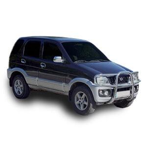 Daihatsu Terios fondo blanco