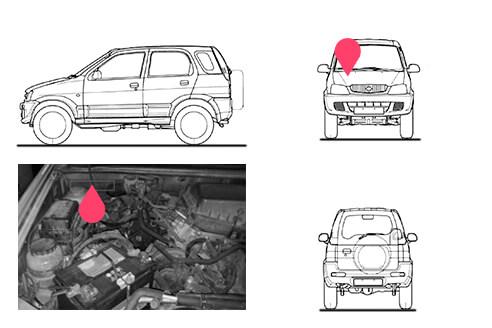 Ubicacion bastidor Daihatsu Terios