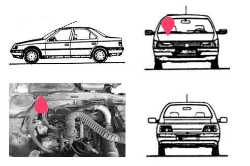 Ubicacion bastidor Peugeot 405