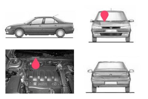 Ubicacion bastidor Peugeot 406